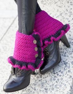 Funky Crochet Scarf Patterns | Funky Spats Crochet Pattern | Red Heart