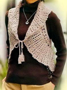 Crochet Sweater: Crochet Vest Pattern For Women - Circle Vest free pattern