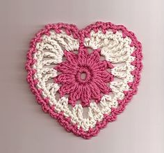 Crochet Heart Motif - from Crochet-World