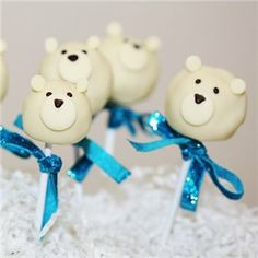 Polar Bear Cake Pops - love!