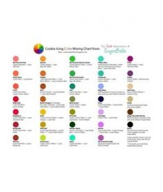 50094245 Sweet Sugar Belle s Icing Color Chart Printable Version