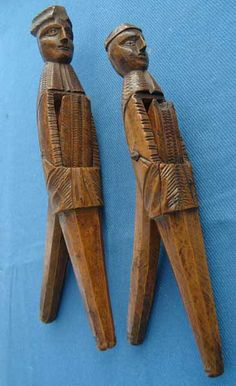 Pair of 18th century French (Alsace region) nutcrackers