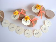 SEVEN (7) Secret Garland message in a box - Will you be my bridesmaid, bridesmaid invitation, maid of honor