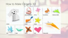 How To Make Origami // Origami is the ancient Japanese art of paper folding. Origami has become increasingly popular in Japan and the rest of the world. Many people enjoy the challenge of learning to fold traditional and non-traditional origami creations. This application will help you to get started.