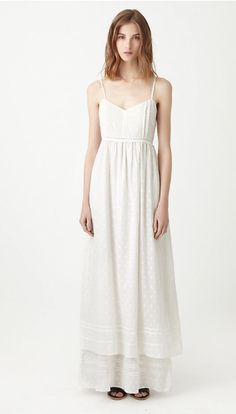 Fil Coupe Tiered Maxi Slip Dress by BAND OF OUTSIDERS