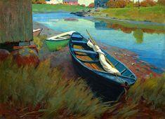 1895, wesley dow, boats, inspir, landscap paint, artist, rest, arthur wesley, art institut