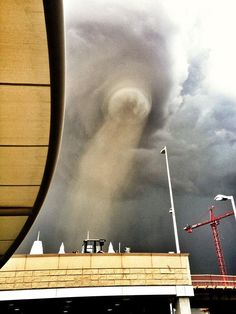 An incredible photo of a tornado from @Vivian Dony Dony Dony Dony Dony Dony Dony Ballew Magazine editor in the Denver Airport