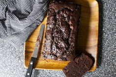 double chocolate banana bread via smitten kitchen