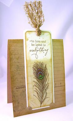 Kraft Paper Stamps: 08/01/2011 - 09/01/2011.  This is a stamped bookmark, we could make these ourselves?!