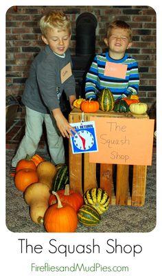 The Squash Shop: Imaginative Play for Autumn