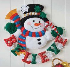 Felt Tree Skirt Kits Applique | Bucilla Snowman Believe Wall Hanging Applique Kit