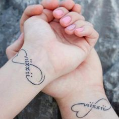 ❤ Husband & Wife matching tattoos ...like the idea, with a traditional infinity symbol