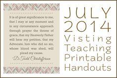 July 2014 Visiting Teaching Printable