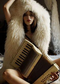 fur + accordian