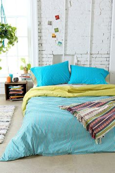 Assembly Home Tiny Stripe Duvet Cover #urbanoutfitters