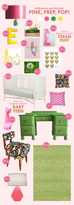 great inspiration board for tova's big girl room - this whole website is AMAZING! wish i had seen it before putting together the 2 nurseries