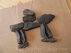 Inuksuk craft nativ american, animals, polar bears, native americans, sugar cubes, stone art, american crafts, kid, stone sculpture