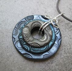 Nesting Circles Pendant from washers
