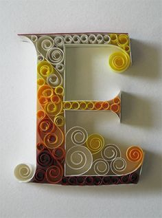 Awesome swirled letters