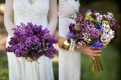 Lilac flower bouquets