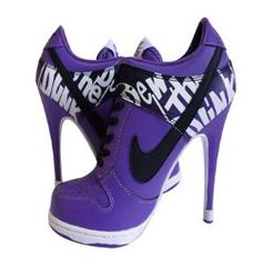 my favorite shoes. Sneakers and high heals together funny!