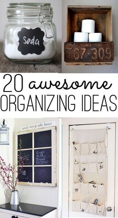 20 awesome organizing ideas for the whole house 20 awesom, organizing ideas, organ idea, organize house, awesom organ, old windows, window panes, 20 organ, cleaning supplies