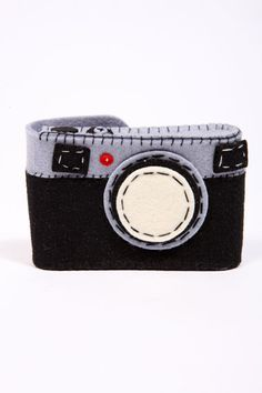 Black & Grey Felt Camera Case
