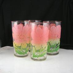 Vintage Beverage Glasses - 8 Oz. Federal Glass -