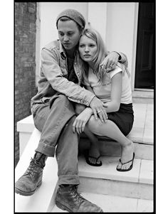 Johnny Depp & Kate Moss Grunge Style '90s