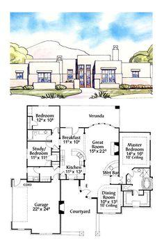 Santa fe house plans on pinterest house plans master for Santa fe home plans