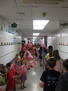 5th Grade Final Walk- on the last day of school all the students gather in the hallway to cheer on our 5th grade students and wish them good luck in Middle School