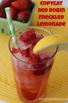 #Copycat Red Robin Freckled Lemonade #Recipe -