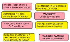 Funny Prescription Labels Related Keywords & Suggestions - Funny ...