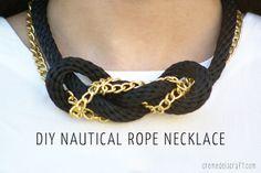 DIY: Nautical cuerda y collar nudo cadena