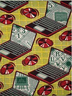 wax fabric computer motif