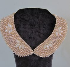 Vintage 1950s Pearl Collar Choker Necklace Lined by BasyaBerkman, $65.00