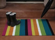 Shag Bold Stripe Indoor/Outdoor Floor Mats from Chilewich — Faith's Daily Find 07.21.14
