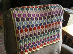 Ravelry: Honeycomb Stroller Blanket pattern by Terry Kimbrough, Susan Leitzsch, Lucie Sinkler.