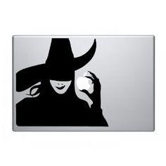 Apple Macbook Vinyl Decal Sticker - Wicked Witch