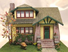 """Cynthia Howe Miniatures. 1/4"""" (1:48). Lovely. visit this site for more photos of this and other smaller scale miniatures."""