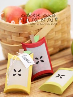 Autumn Apple Favor Boxes made with Cricut Explore -- Damask Love - so cute!
