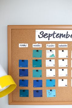 Your life is full of beauty, so why shouldn't organizing it be too? Pretty things up with a Paint Chip calendar! #DIY
