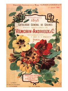 Vilmorin-Andrieux Seed Catalog Posters by Philippe-Victoire Leveque de Vilmorin