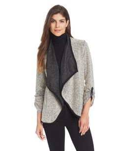 NY Collection Women's Long Sleeve Open Front Cardigan