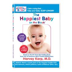 The Happiest Baby on the Block: The New Way to Calm Crying and Help Your Baby Sleep Longer by Dr. Harvey Karp and Nina Montee, DVD: Also available as a book. (But you may not have time to read it!) #Babies #Parenting #The_Happiest_Baby_on_the_Block #Harvey_Karp #Nina_Montee #DVD