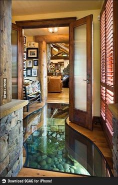 There is a river running under the house!
