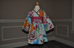Hana Kimono Dress - Long Sleeved - Minky Lined. $65.00, via Etsy.