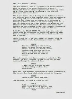 I've written a screenplay based on 'Olives - A Violent Romance'. Here's page one! :) Fake Plastic Souks