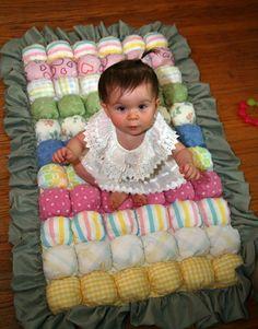 Puff baby quilt.