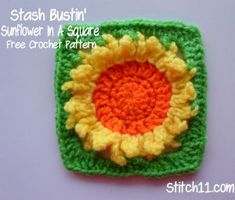 Stash-Busting Sunflower Square